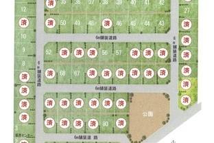 合計87区画の大型分譲地のイメージ